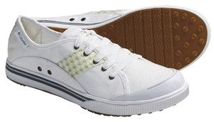 Columbia Sportswear Company Canvas Sneakers Retro Sporty White, Citronnelle Athletic
