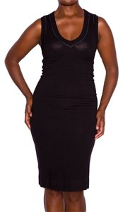 Donna Karan short dress Black Color Slimming Viscose on Tradesy