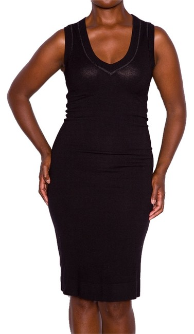 Donna Karan short dress Black Color Slimming Viscose Sweater Vneck Short Iconic Icon Day After5 Dinner Date Girlsnightout Life Woman Comfortable on Tradesy