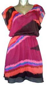 Express short dress Multi Colored - Vibrant Shell: 100% Polyester on Tradesy