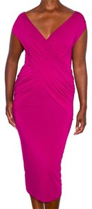 Donna Karan Magenta Girl Woman Her Dress