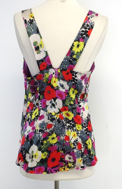 Rebecca Taylor Floral Print Silk Sleeveless Top