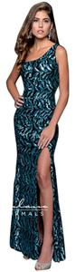 Milano Formals Sequin One Shoulder Dress
