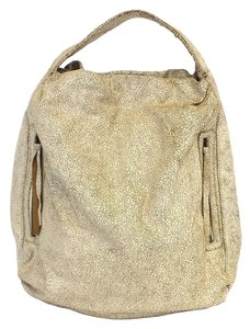 Bryna Nicole Serrano Distressed Leather Oversized Hobo Bag