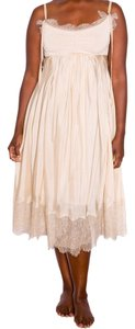 Donna Karan short dress gold/beige Silk Jersey on Tradesy