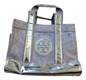 Tory Burch Tote in Silver and Grey