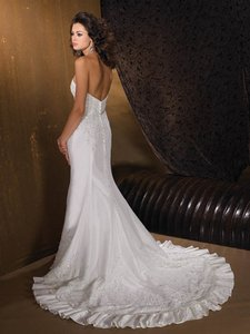 Allure Bridals Ivory Lace 8516 Formal Wedding Dress Size 6 (S)