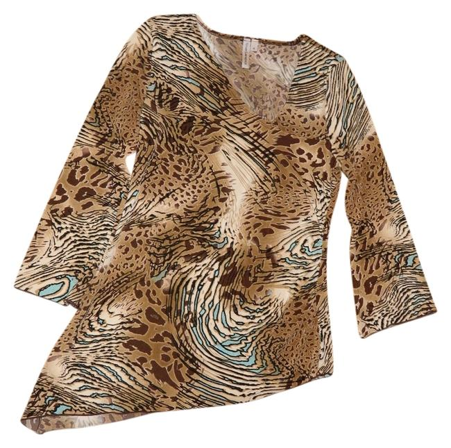 Susan Lawrence Top Wild Cat Camouflage