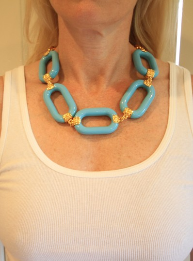 Kenneth Jay Lane Kenneth Jay Lane Turquoise Link Necklace