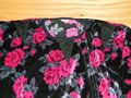 JiasMai Top Black Velvet with Pink Roses Image 1