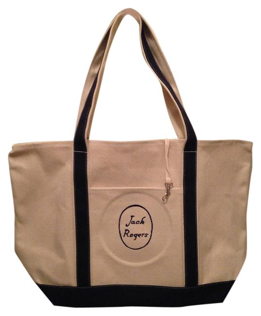 Item - Oversized Beige Canvas Beach Bag