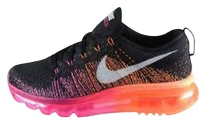 Nike Running Nike Women's Air Max Flyknit 2014 BRAND NEW - ON SALE - Black, Magenta, Atomic Orange - Women's Size 7 Running/Cross Country Shoes. Athletic