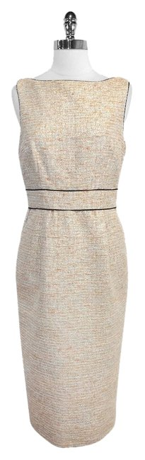 Preload https://item1.tradesy.com/images/badgley-mischka-peach-and-silver-tweed-sleeveless-high-low-short-casual-dress-size-10-m-4393405-0-0.jpg?width=400&height=650