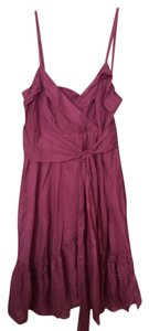 Diane von Furstenberg short dress Maroon on Tradesy