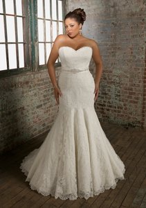 Mori Lee Ivory Lace Juliette 3108 Sexy Wedding Dress Size 16 (XL, Plus 0x)