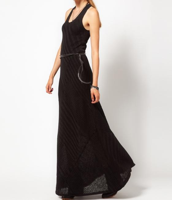 black Maxi Dress by Improvd Maxi Sleevless Racer Ribbed
