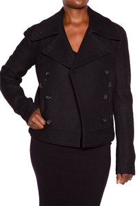 Donna Karan Doublebreast Motorcycle Pea Coat