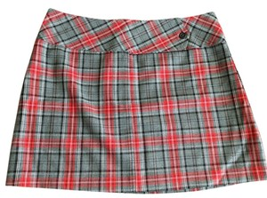 Lavender Sexy Micro-mini Mini Mini Skirt Red grey plaid