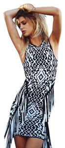 Torn by Ronny Kobo short dress Fringe Jacquard Print Bodycon on Tradesy