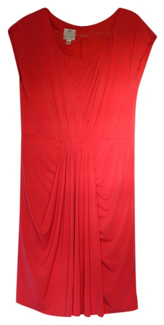 Preload https://item3.tradesy.com/images/suzi-chin-coral-pink-knee-length-cocktail-dress-size-14-l-4394032-0-0.jpg?width=400&height=650