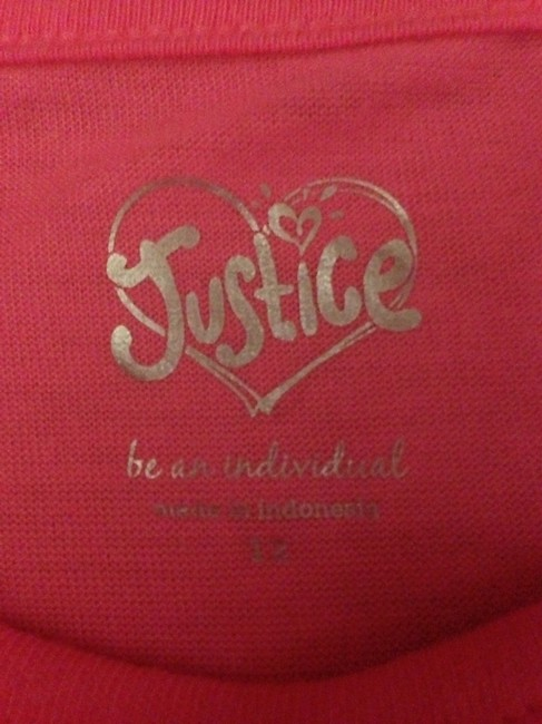 Justice T Shirt Pink