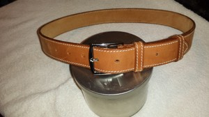 Hermès HERMES ETRIVIERE BELT IN NATURAL BROWN LEATHER
