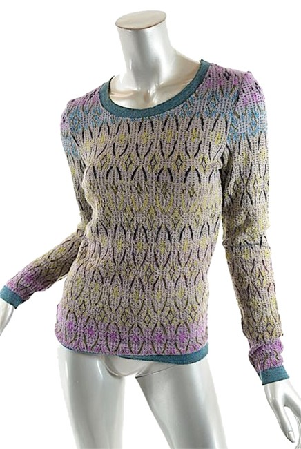 Preload https://item4.tradesy.com/images/lavender-gray-blue-yellow-and-black-multi-acrylicwool-blend-tunic-nice-m-sweaterpullover-size-8-m-4394293-0-0.jpg?width=400&height=650