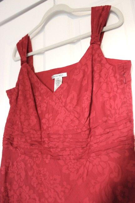 Nine West short dress Cardinal Red Floral Damask Summer Sundress on Tradesy