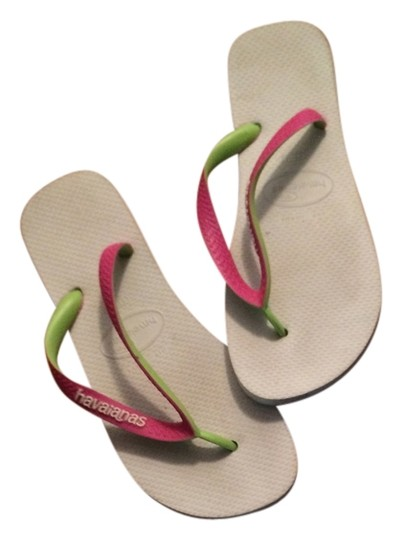 Preload https://item4.tradesy.com/images/havaianas-white-pink-and-lime-green-flip-flops-sandals-size-us-11-regular-m-b-4394653-0-0.jpg?width=440&height=440