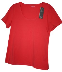 Eileen Fisher Scoop Neck T Shirt Strawberry