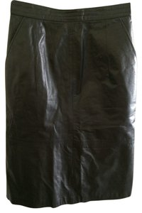 FORENZA Leather A-line Skirt Black