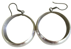 Mexican Sterling Silver Hoop Earrings