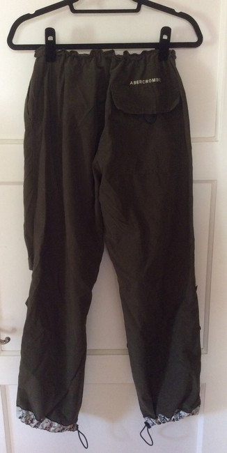 Abercrombie & Fitch Embroidered Comfortable Cas Casual Silk Vinta Vintage Cargo Pants Army Green