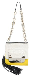 Diane von Furstenberg Embossed Python Shoulder Bag