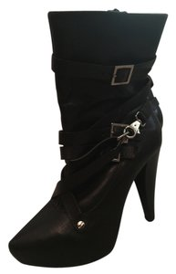 Vero Cuoio Leather Rockstar Straps Black Boots