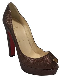 Christian Louboutin Bambou 125mm Bronze Platforms