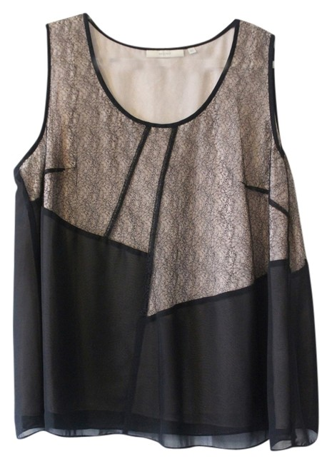Item - Black and Nude Tank Top/Cami Size 18 (XL, Plus 0x)