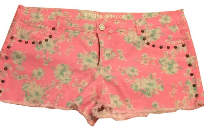 Mossimo Supply Co. Mini/Short Shorts Pink flowers