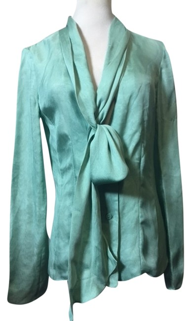 Preload https://item3.tradesy.com/images/pollini-light-green-shawl-button-down-top-size-8-m-4396657-0-0.jpg?width=400&height=650