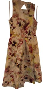 Anthropologie short dress Multi Color Garden Floral Summer Wedding on Tradesy