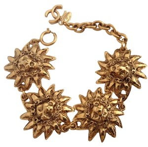 Chanel CHANEL GOLD PLATED CC SUN LION BRACELET