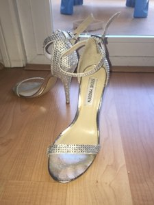 dbdd797abba Steve Madden Silver Bling Realov-r Rhinestone Dress Sandals Formal Size US  6.5 Regular (