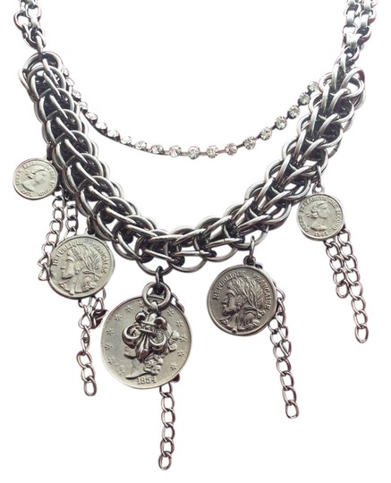 Preload https://item4.tradesy.com/images/silver-cara-statement-french-coin-tone-necklace-with-rhinestones-4396963-0-0.jpg?width=440&height=440
