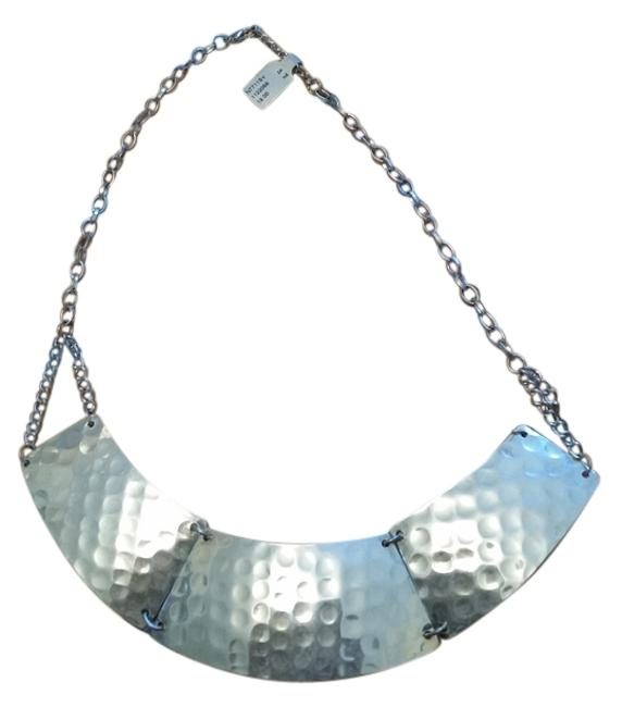 Silver Silver-color Metal Indented Necklace Silver Silver-color Metal Indented Necklace Image 1
