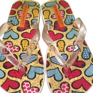 Romero Britto Multi Color Hearts Sandals