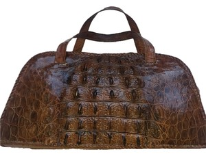 Custom Alligator Bag Tote in Brown