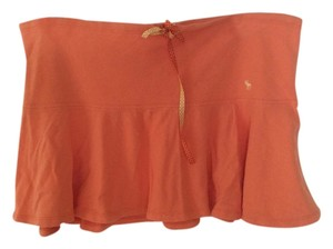 Abercrombie & Fitch Fun Mini Comfortable Mini Skirt Orange