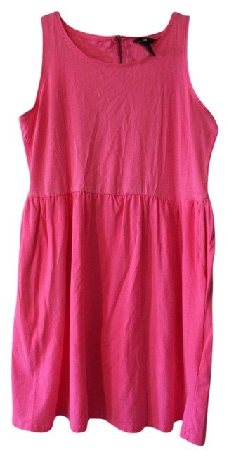 H&M short dress Neon Pink Skater on Tradesy