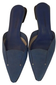 CoSTUME NATIONAL Suede Size 5.5 Mules Blue Flats