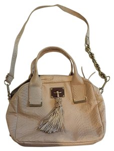 Elliott Lucca Leather Tassel Snakeskin Crossbody Shoulder Bag